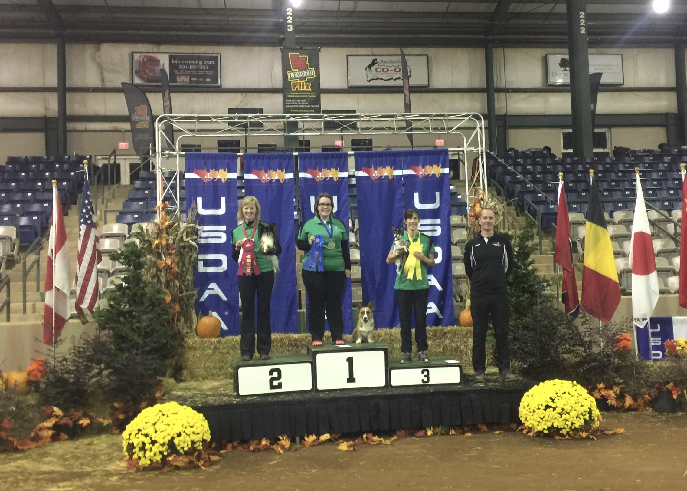 Courtney and Fran on the podium.